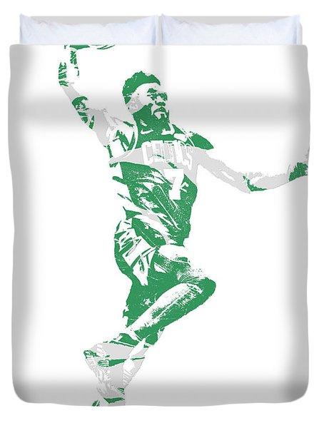 Jaylen Brown Boston Celtics Pixel Art 10 Duvet Cover