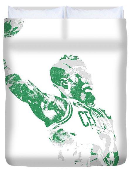 Jaylen Brown Boston Celtics Pixel Art 11 Duvet Cover