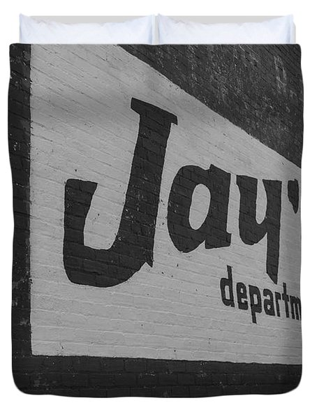 Jay's Department Store In Bw Duvet Cover