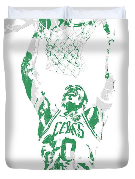 Jayson Tatum Boston Celtics Pixel Art 10 Duvet Cover