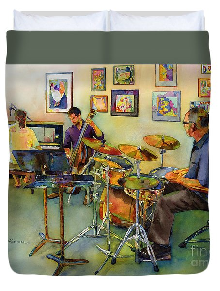 Jazz At The Gallery Duvet Cover