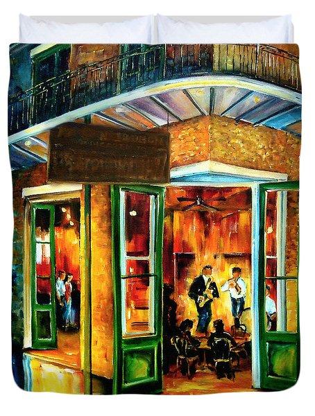 Jazz At The Maison Bourbon Duvet Cover by Diane Millsap
