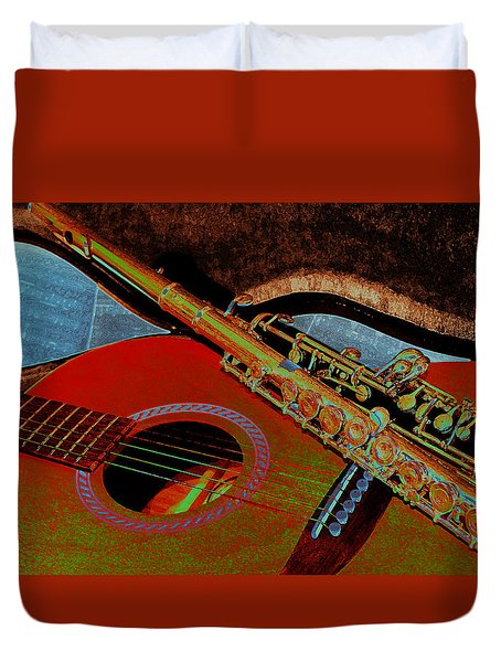 Jazz Band Duvet Cover by Lori Kingston