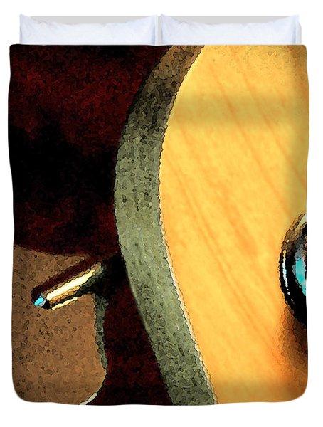 Jazz Bass Tuner Duvet Cover