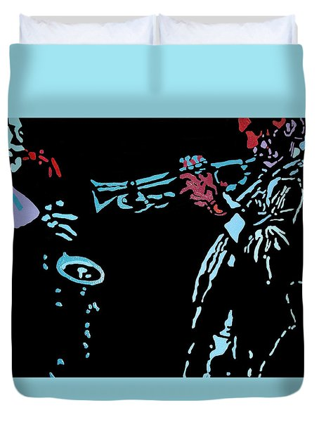 Jazz Duo Duvet Cover