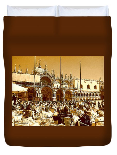 Jazz In Piazza San Marco Duvet Cover