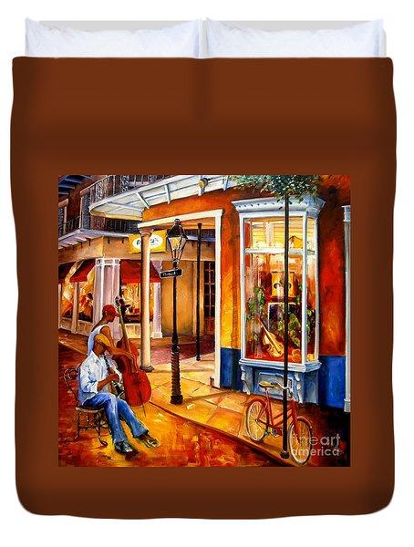 Jazz On Royal Street Duvet Cover