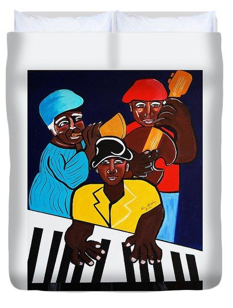 Jazz Sunshine Band Duvet Cover by Nora Shepley