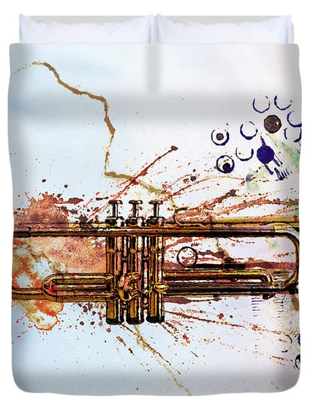 Jazz Trumpet Duvet Cover