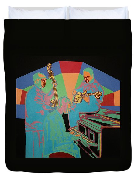 Jazzamatazz Band Duvet Cover