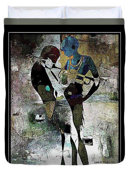 Jazzy Night 10 Duvet Cover by Lynda Payton