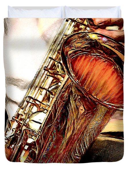 Jazzy Sax Duvet Cover