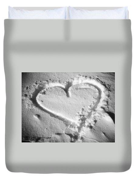 Winter Heart Duvet Cover by Juergen Weiss