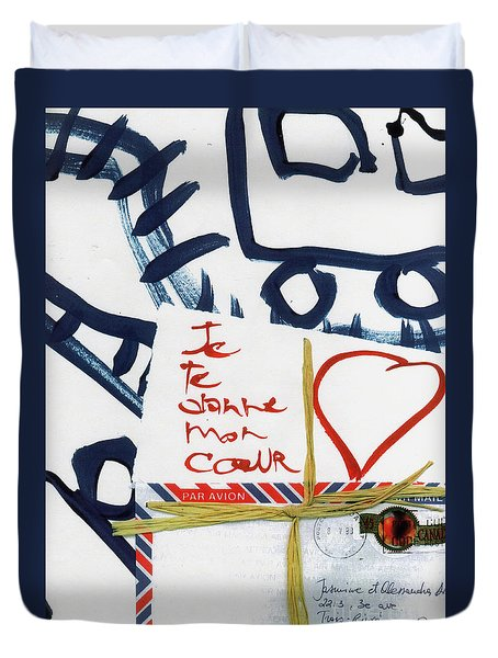 Je Te Donne Mon Coeur Duvet Cover