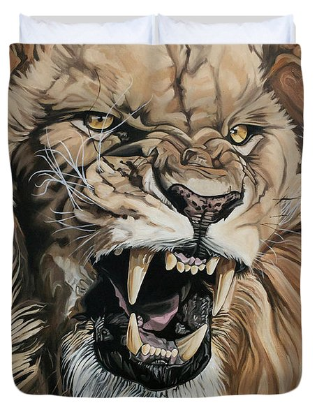 Jealous Roar Duvet Cover