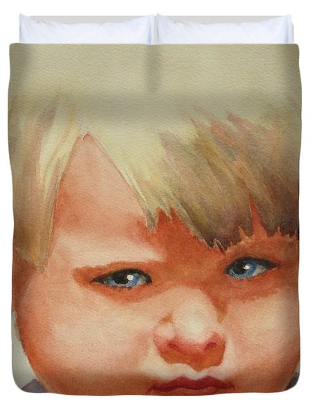 Jean Duvet Cover by Marilyn Jacobson