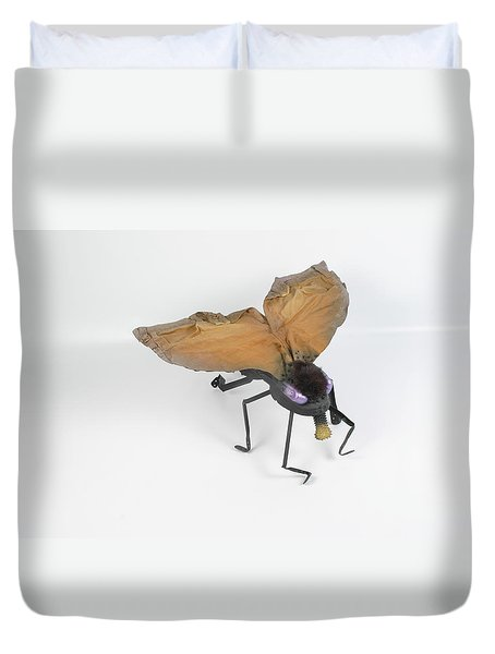 Jeanetic Violet-eyed Fly Duvet Cover by Michael Jude Russo