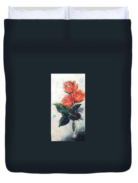 Jeannie's Roses Duvet Cover