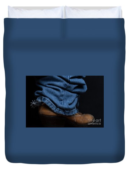 Jeans And Cowboy Boots Duvet Cover