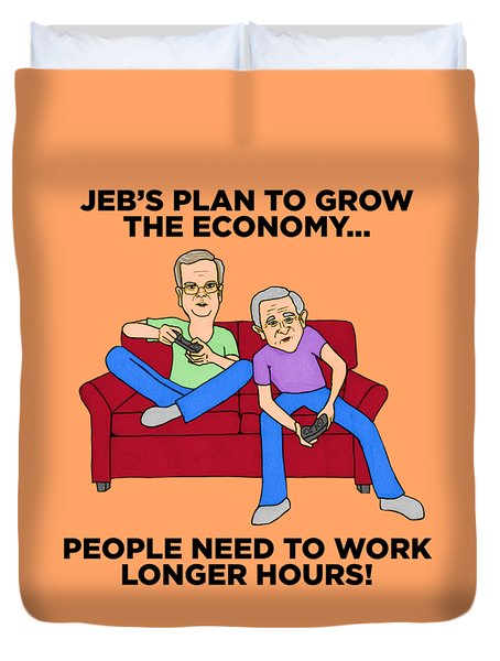 Jeb Bush Duvet Cover by Sean Corcoran
