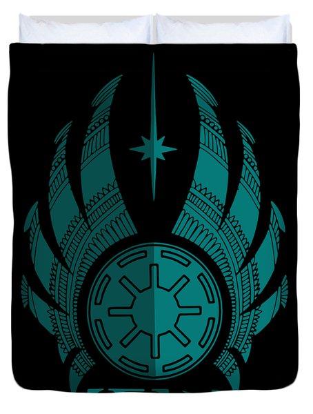 Jedi Symbol - Star Wars Art, Blue Duvet Cover
