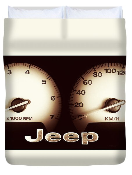 Duvet Cover featuring the photograph Jeep 01 by Kevin Chippindall