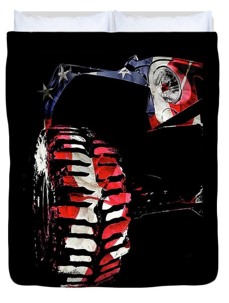 Jeep Jk Freedom Edition Duvet Cover