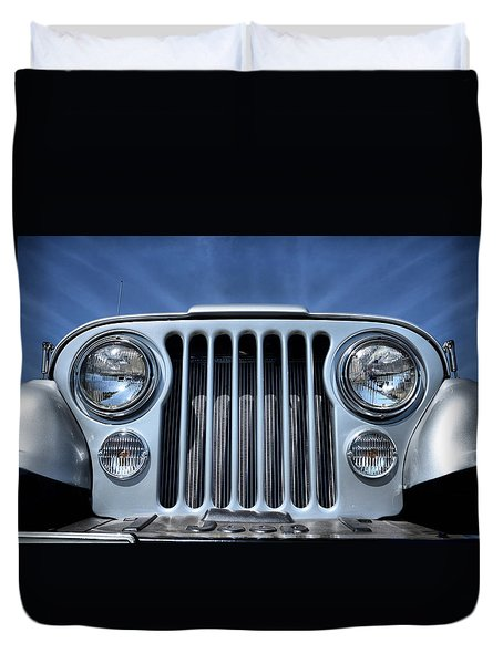Jeep Life - Blue Sky Cj Duvet Cover