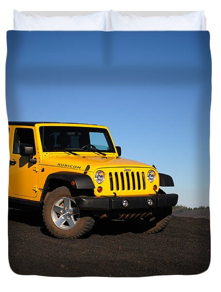 Jeep Rubicon In The Cinders Duvet Cover