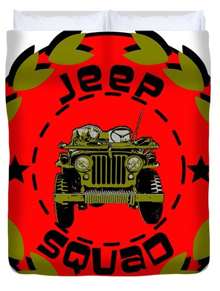 Jeep Squad Duvet Cover