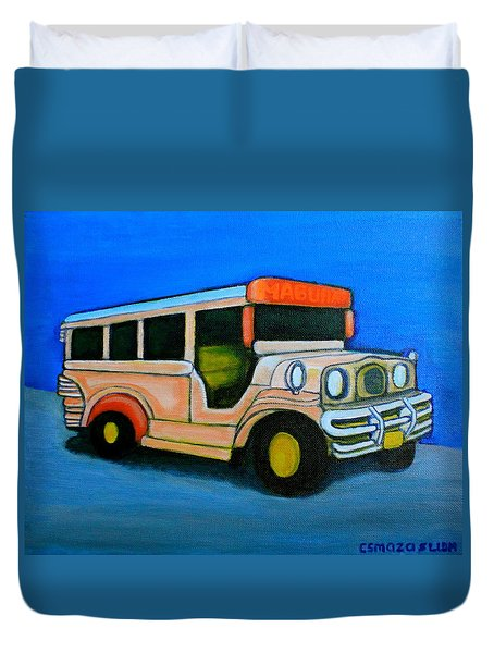 Jeepney Duvet Cover by Cyril Maza