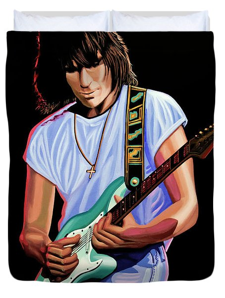 Jeff Beck Painting Duvet Cover