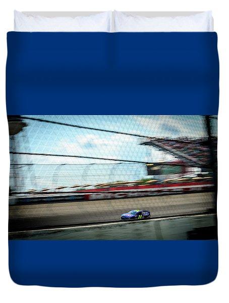 Jeff Gordon's Last Race At Mis Duvet Cover