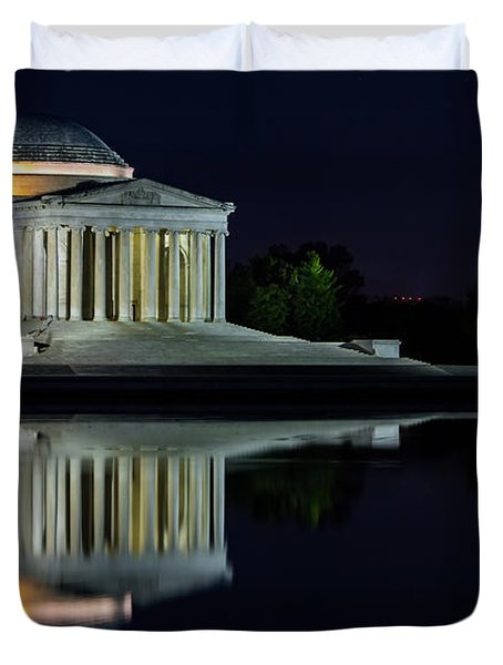 The Jefferson At Night Duvet Cover