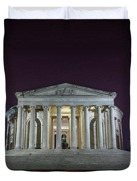 Jefferson At Night Duvet Cover