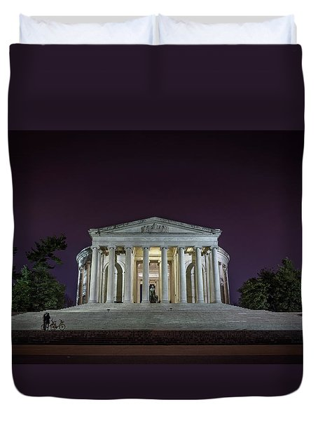 Jefferson At Night Duvet Cover