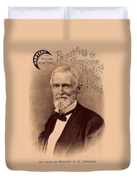 Jefferson Davis Vintage Advertisement Duvet Cover by War Is Hell Store