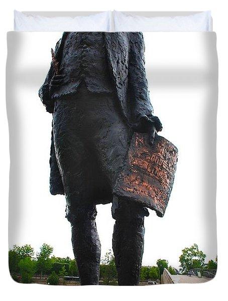 Jefferson In Paris Duvet Cover
