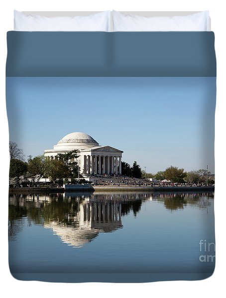 Jefferson Memorial Cherry Blossom Festival Duvet Cover