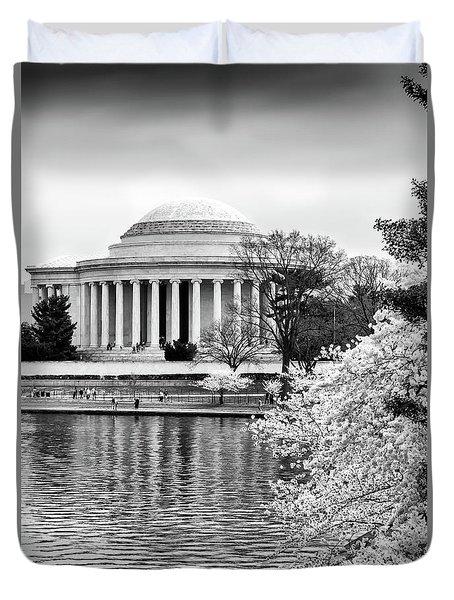 Jefferson Memorial Cherry Blosum Time Duvet Cover