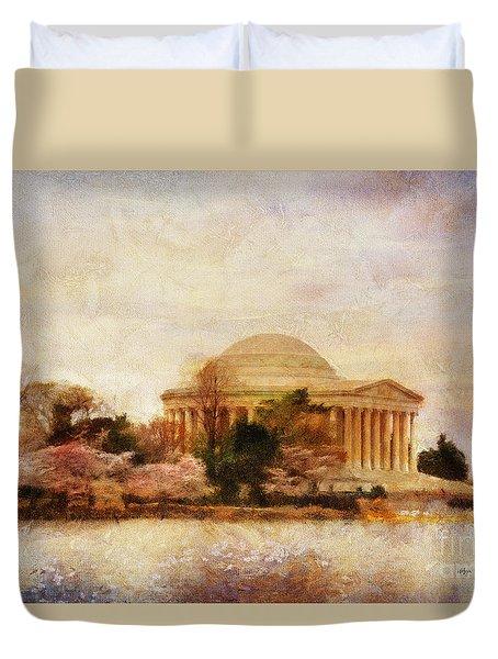 Jefferson Memorial Just Past Dawn Duvet Cover