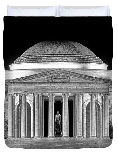 Jefferson Memorial Lonely Night Duvet Cover