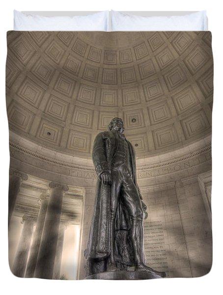 Jefferson Memorial Duvet Cover by Shelley Neff