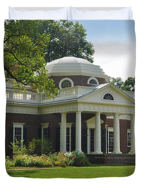 Jeffersons Monticello Duvet Cover by Bill Cannon