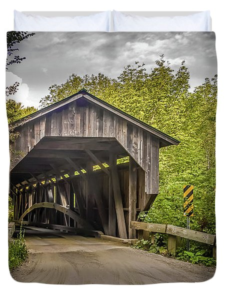 Jeffersonville Covered Bridge Duvet Cover