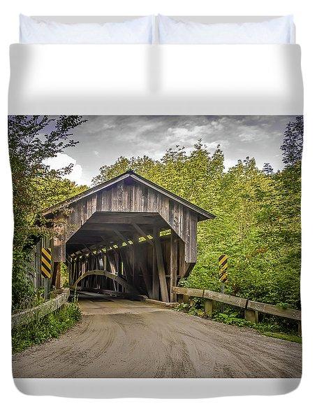 Jeffersonville Covered Bridge Duvet Cover