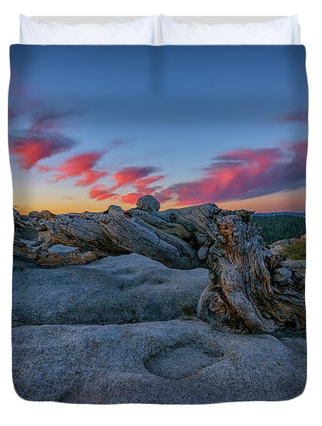 Duvet Cover featuring the photograph Jeffrey Pine Dawn by Rick Berk