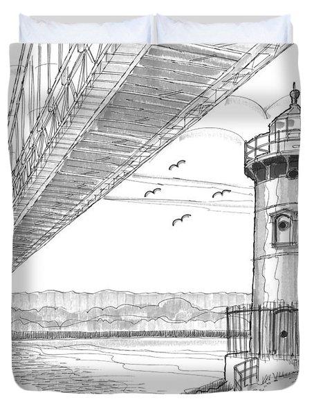 Jeffrey's Hook Lighthouse Duvet Cover