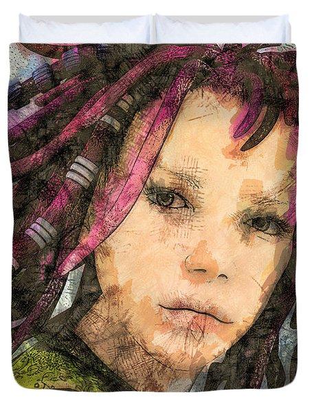 Jehanne Duvet Cover by Jutta Maria Pusl