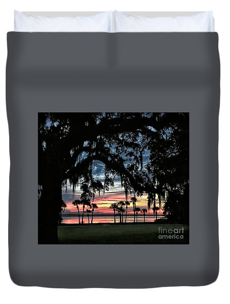 Jekyll Island Georgia Sunset Duvet Cover